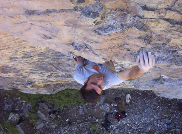 1057 at Yellow Pine Cliff, Mt. Charleston.  THE 5.10 classic on the mountain.