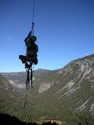 Rock Climbing Photo: jugging pitch 1 leaning tower yosemite