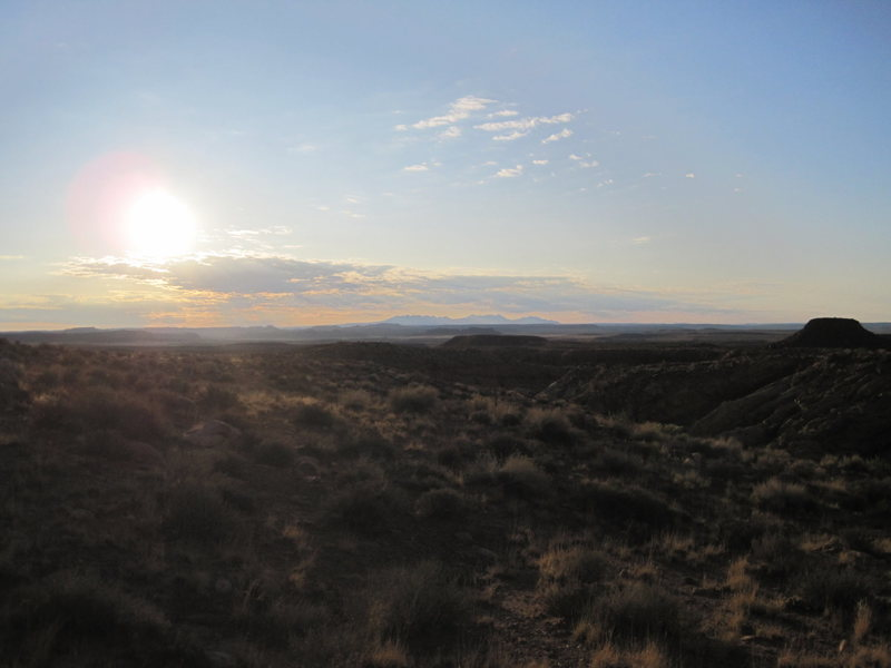 Dawn of 18th Sept over the La Sal Mts.