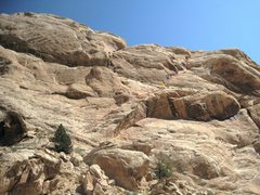 Rock Climbing Photo: The Route ..Double Click to enlarge. Three one pit...