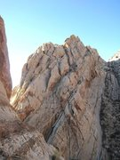 Rock Climbing Photo: Showing the upper pitches of Knights-Errant. Click...