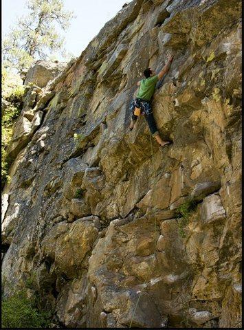 Fun Climb! 5.10d I think Post Falls Idaho