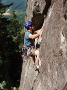 Rock Climbing Photo: Erik Neumann on the FFA of the crux first pitch, s...