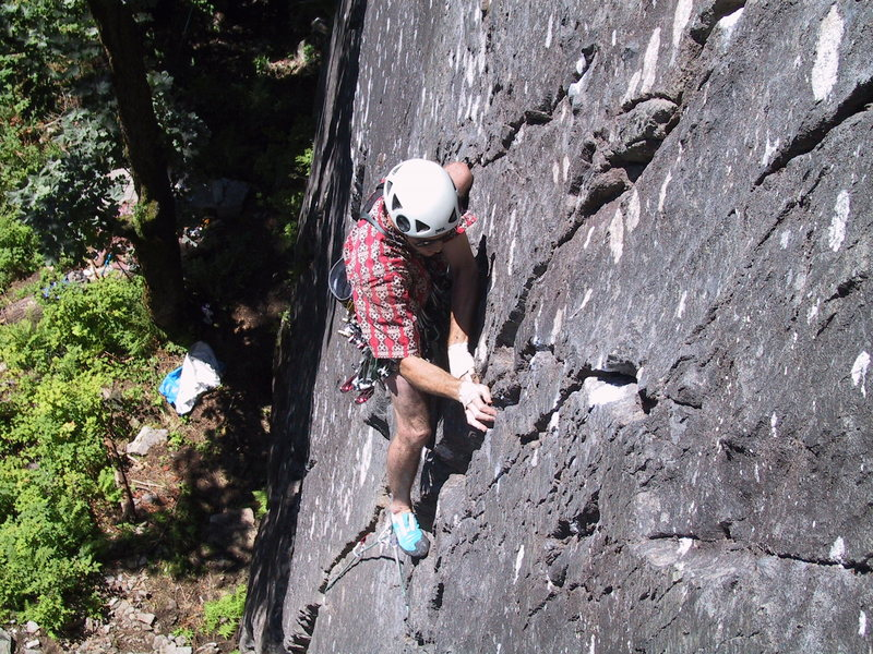 Rock Climbing Photo: Me, navigating the first pitch a week or two after...
