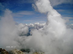 Rock Climbing Photo: Here come the clouds that eventually brought visib...