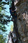 Rock Climbing Photo: Crux of Big Papa