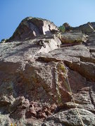 Rock Climbing Photo: Just after the first crux. The second bolt is to L...