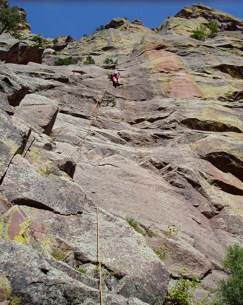 Rock Climbing Photo: Near the top of the 10 approach. I was getting rop...