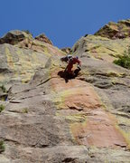 Rock Climbing Photo: Getting some height prior to heel hooking. Photo b...