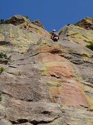 Rock Climbing Photo: After the last hard move. After the first two jugg...