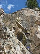 Rock Climbing Photo: Amanda Moyer, belayed by Ken Jern, leading the sec...