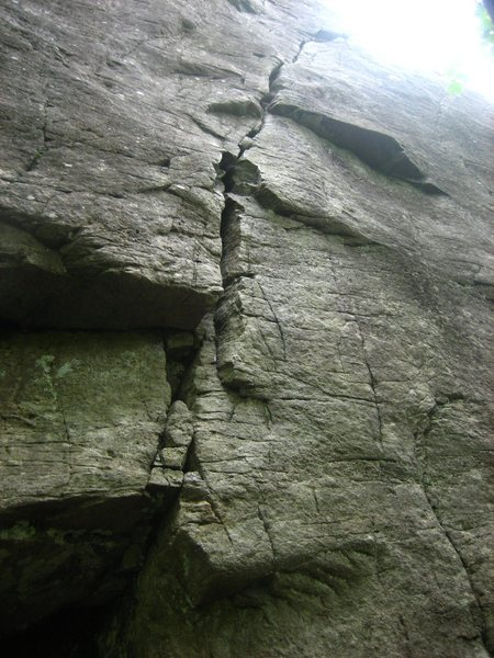 Rock Climbing Photo: The right-leaning splitter