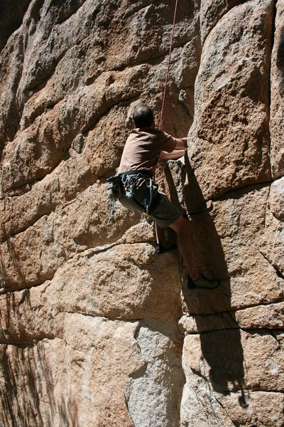Rock Climbing Photo: Nathan on More Punk than Funk 5.10b.
