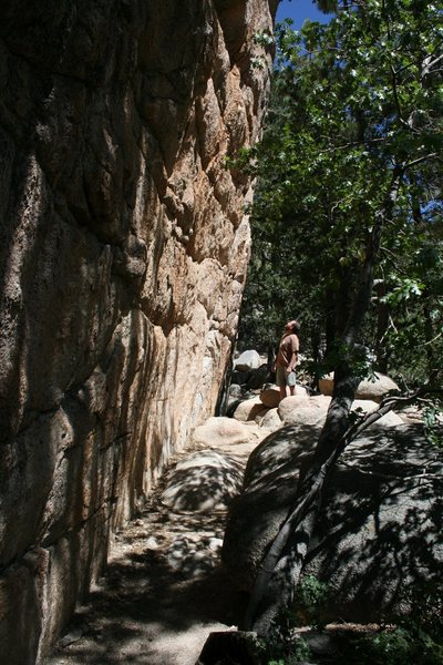 Rock Climbing Photo: Nathan below the left side of Hungover just about ...
