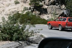 Rock Climbing Photo: Following the Pinto down the hill.