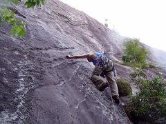 Rock Climbing Photo: Shannon Starting Walkin Da Planks FFA