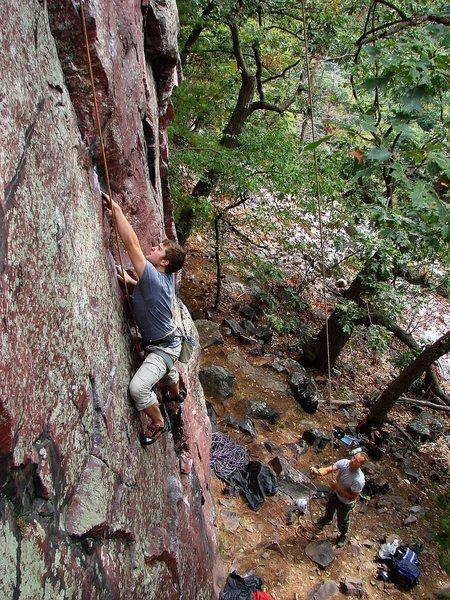 Jon Nash climbing this fun route, Sept 09.