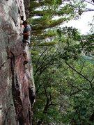 Rock Climbing Photo: Another shot of Jon Nash on Charybdis.  Sept 09.