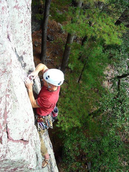 Rock Climbing Photo: Gear fiddling on a flash of Alpha C, Sept 09.  Pho...