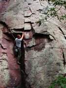 Rock Climbing Photo: Shot 1:3, entering into the crux of Anomie, Matt S...
