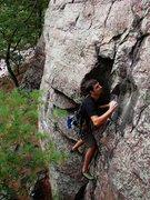 Rock Climbing Photo: Isaac Therneau on Vivisection.  Sept 09.