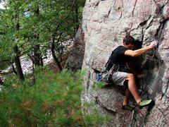 Rock Climbing Photo: Beautiful climb, Vivisection, climbing Isaac Thern...