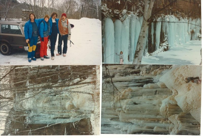 Circa 1983/84 With Al Grahn, Dahlberg, Tom D., some of the first ice climbing prior to global warming