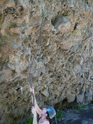Rock Climbing Photo: 5.) With extra rope slack through the rope carabin...