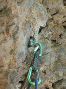 Rock Climbing Photo: 6.) Navigate the carabiner's nose into the hanger....