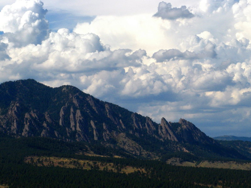 Rock Climbing Photo: Flatirons and such.