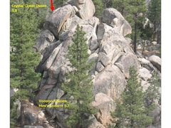 Rock Climbing Photo: Closet Crag as seen from the vicinity One Eyed Cat...