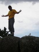 Rock Climbing Photo: Bjorn on top of it all.