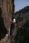 Rock Climbing Photo: Mark Sargent out on Rosy in 1983.