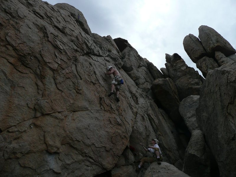 Rock Climbing Photo: bill, belayed by his better half