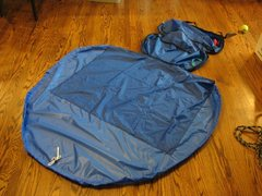 Rock Climbing Photo: Original Tarp Size = 24x36 = Too Small New Tarp Si...