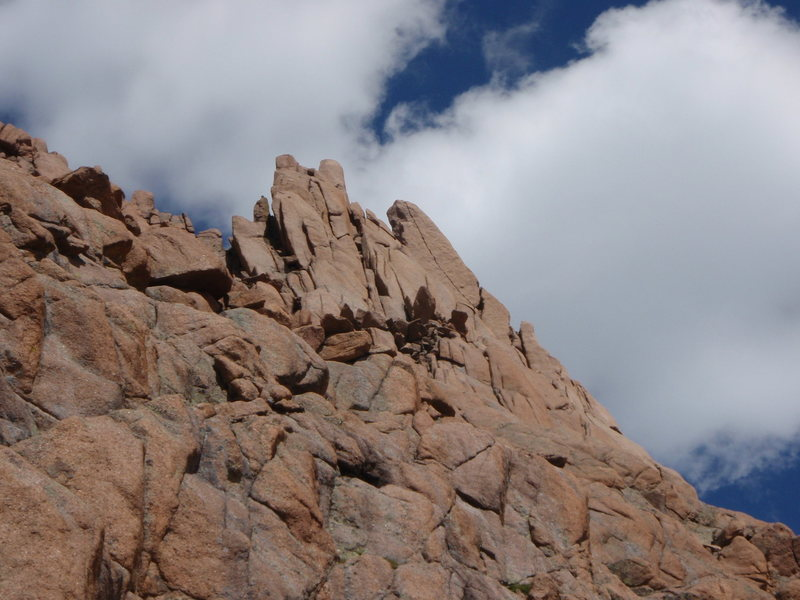Rock Climbing Photo: The crack from the approach. Note: some people rop...