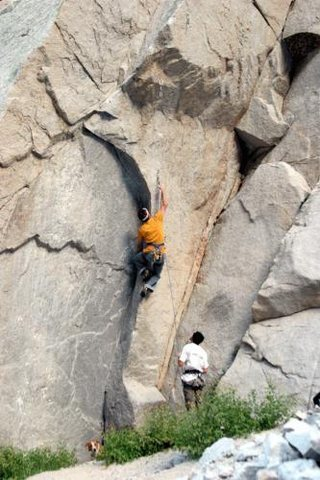 Rock Climbing Photo: FA of The Midget
