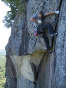 Rock Climbing Photo: Matt Ritter in the mellower layback section. Don't...