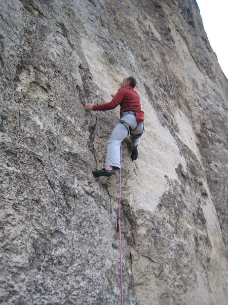 Rock Climbing Photo: Beginning up the cruxy Hale Bopp slab.