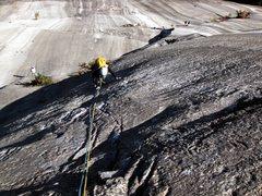 Rock Climbing Photo: Diane having fun !
