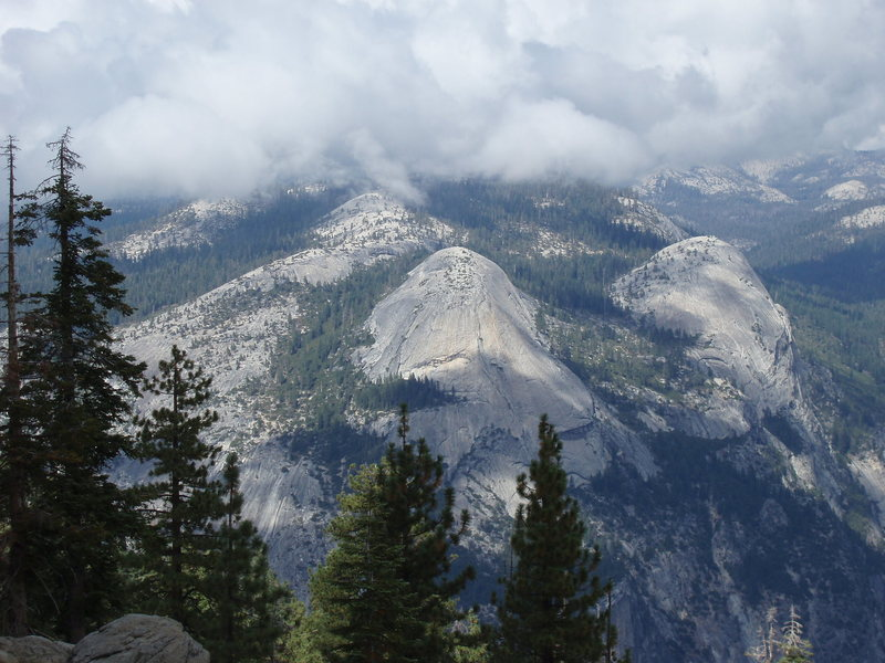 Rock Climbing Photo: North Dome from Glacier Point