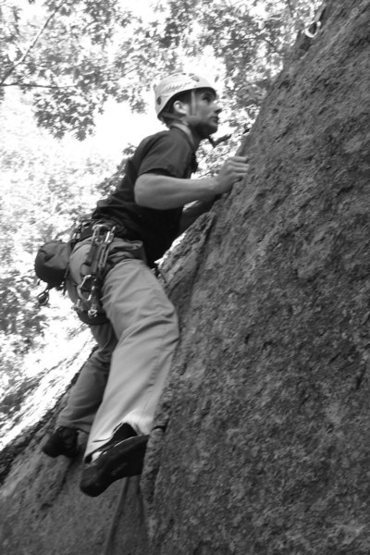 Rock Climbing Photo: Adam on the finger crack