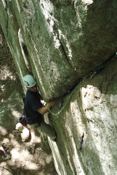 Rock Climbing Photo: Just entering the business section after the nice ...