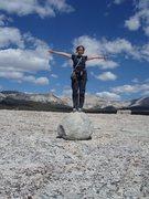 Rock Climbing Photo: Erratic behavior on top...