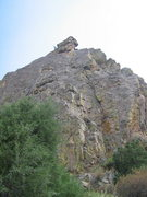Rock Climbing Photo: Crystal Wall, with Unknown West Crack visible as t...
