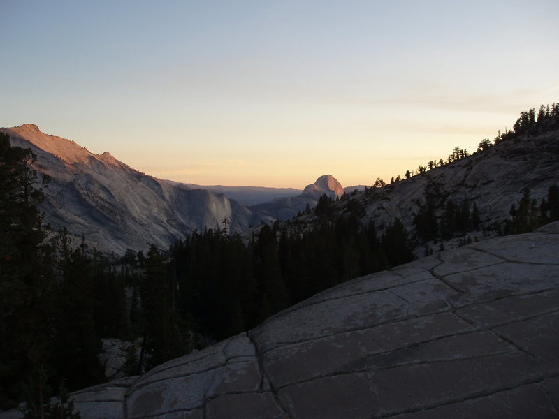 Half Dome sunset from Olmstead Point