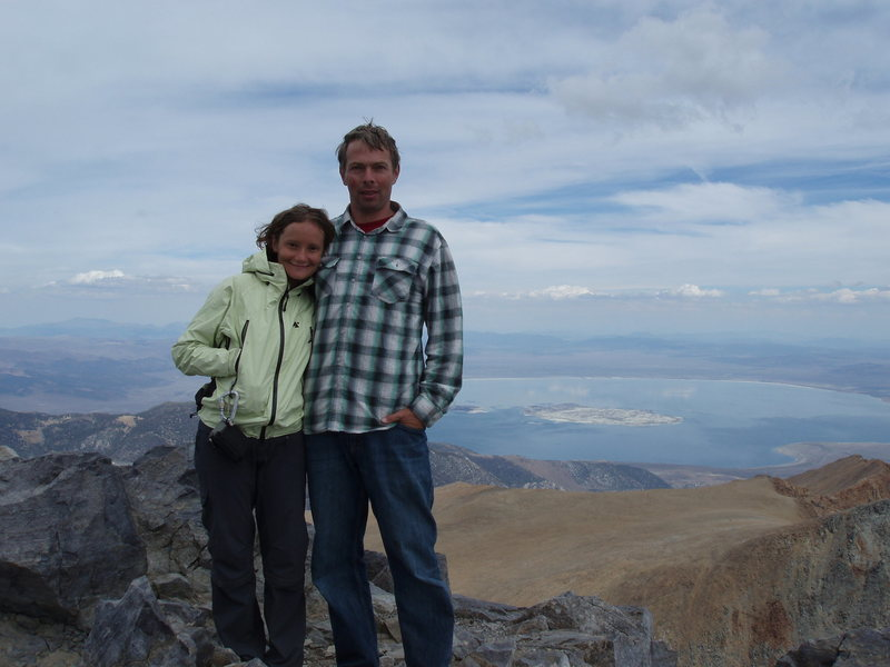 Rock Climbing Photo: Mt Dana summit with Mono Lake in the background...
