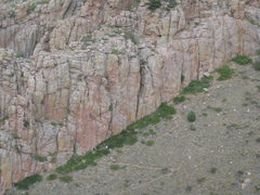 Rock Climbing Photo: Climbers on The Poudre Face, as seen from atop Cry...