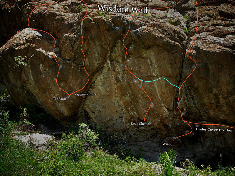 "Rock Climbing Photo: Photo beta for the ""Wisdom Wall"" as of 9..."
