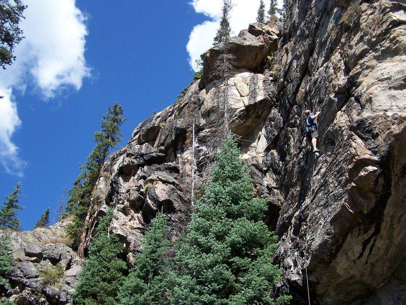 Rock Climbing Photo: Tom on 50 Yard Dash.